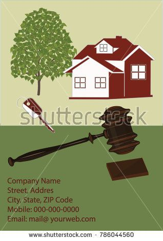 Real estate agency. - Residential house, wood, requisites, chipping hammer - isolated on white background - art vector.