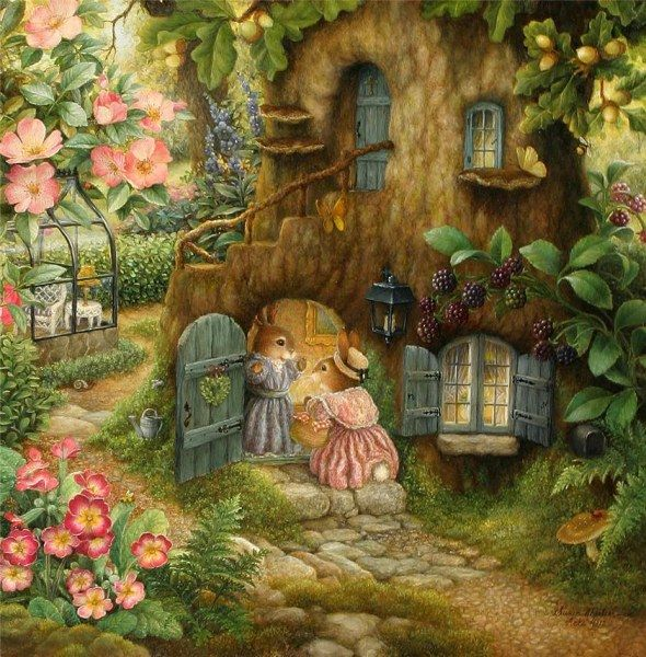 Susan Wheeler — придумала свои иллюстрации в 1995 году, естественно, для своих детей  Добрые акварельные истории сказочных кроликов. Наслаждайтесь просмотром   Иллюстрации похожи наСказочные иллюстрации Беатрис Поттер   Смотрите также: Скандинавские иллюстрации[...]