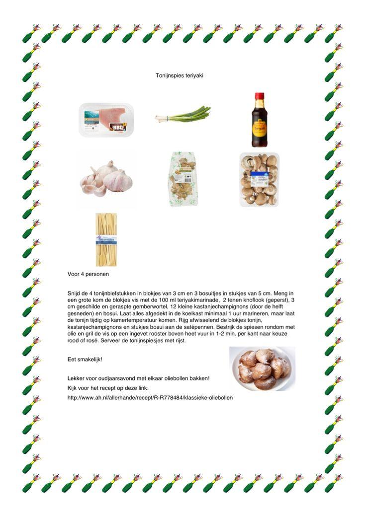 Een simpel gerecht voor het einde van het jaar en een recept om lekker met elkaar oliebollen te bakken! http://www.ah.nl/allerhande/recept/R-R778484/klassieke-oliebollen