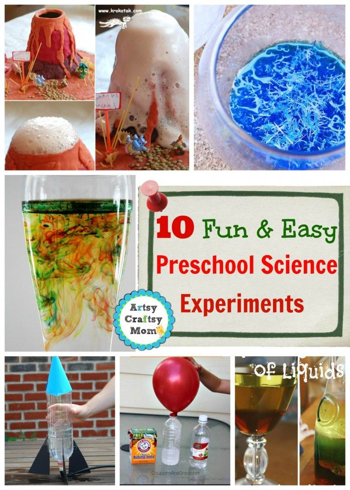 Pre k science projects at home