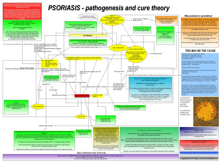 Here is the infographic of my psoriasis cause and cure theory 2