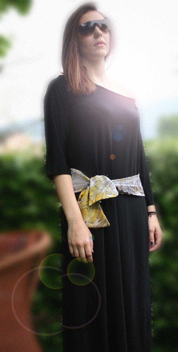 sciarpa / cintura confezionata con due  colori di RebecchiAtelier, €30.00