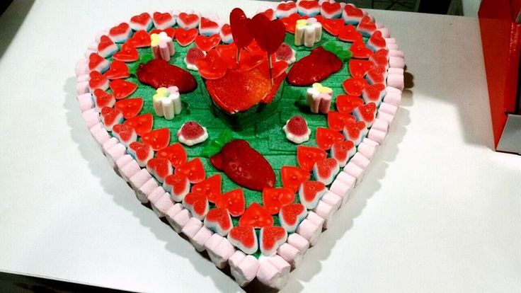 Tarta para S.Valentin con dos corazones.