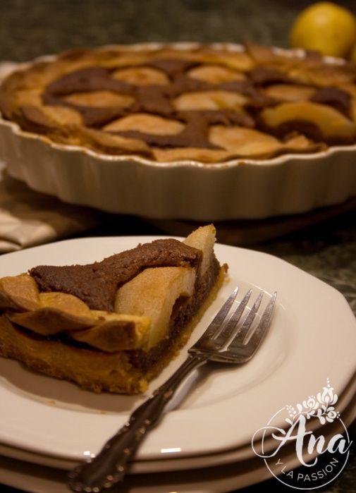 Cacao-pear cake by Ana y la passion, #sugarfree #dessert #dairyfree