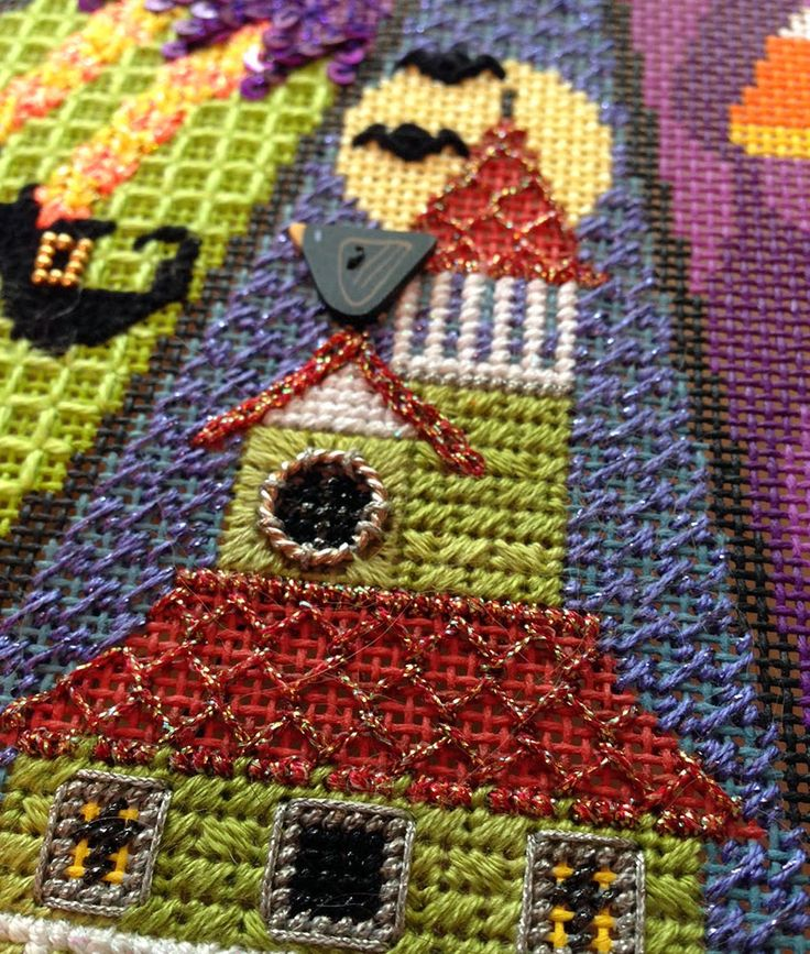 It's not your Grandmother's Needlepoint: Who Goes There?
