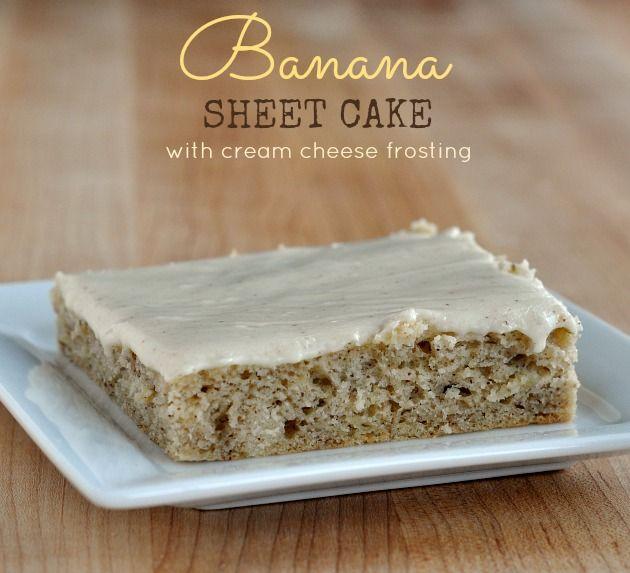 Banana Texas Sheet Cake Recipe