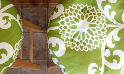 DIY: Bar-Stool Cushion Cover