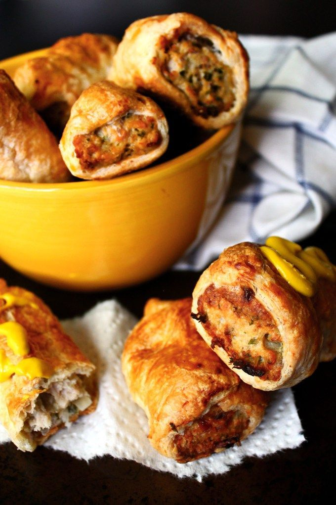 Can I really call these sausage rolls if there isn't any actual sausage in them? It's almost like I'm lying, but what else can I call these meaty rolls wrapped in puff pastry and …