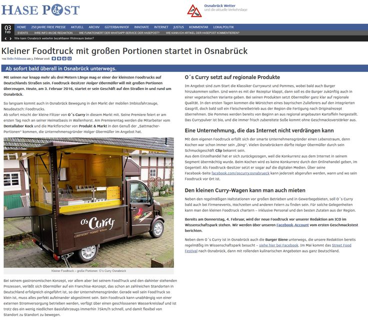 Kleiner Foodtruck mit großen Portionen. www.hasepost.de/kleiner-foodtruck-mit-grossen-portionen-startet-in-osnabrueck-10305/
