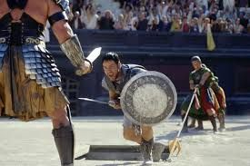 Image result for gladiators fighting in the coliseum