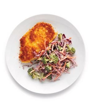 Crispy Chicken With Broccoli Coleslaw recipe