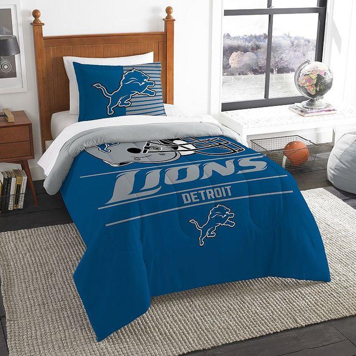Detroit Lions Draft Twin Comforter Set by Northwest, Multicolor