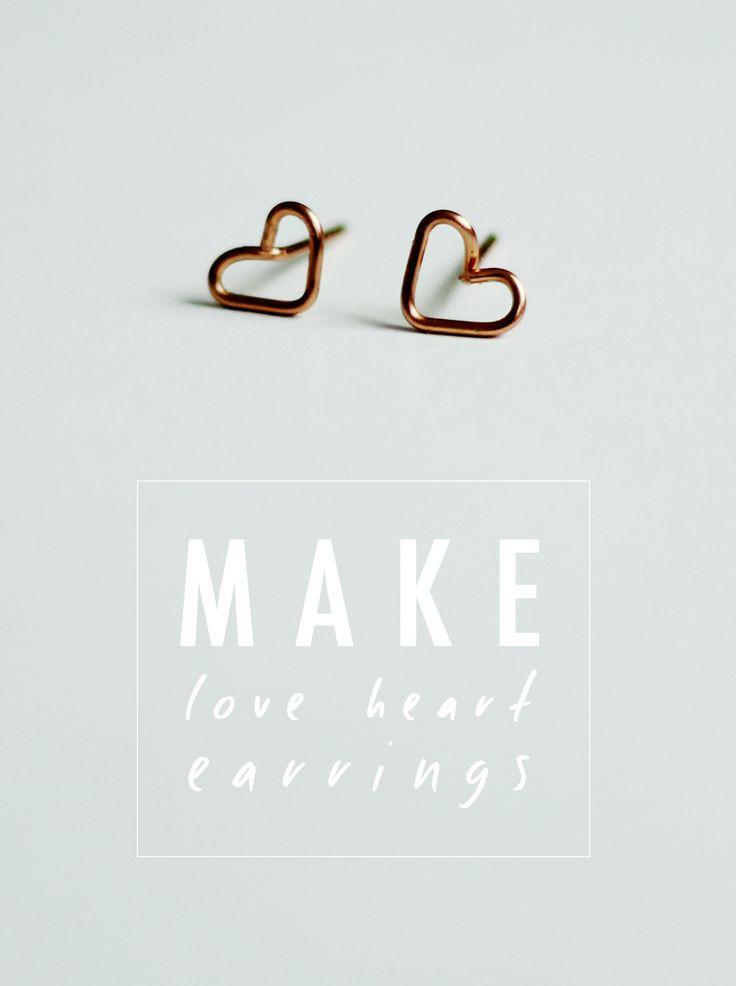 DIY Heart Earrings The Hobzy Blog tutorial