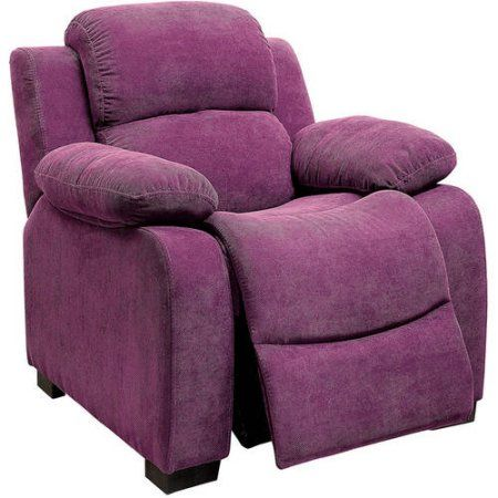 Taylor Kids Recliner Chair in Pink, Purple