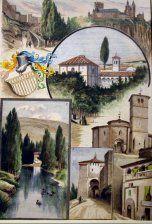 Recuerdos de Segovia, varias vistas: Murallas de la ciudad, el Alcazar... > Grabados, VISTAS (Vistas topograficas) . Frame | Grabados, Mapas Antiguos, Atlas y Libros de Viaje Madrid