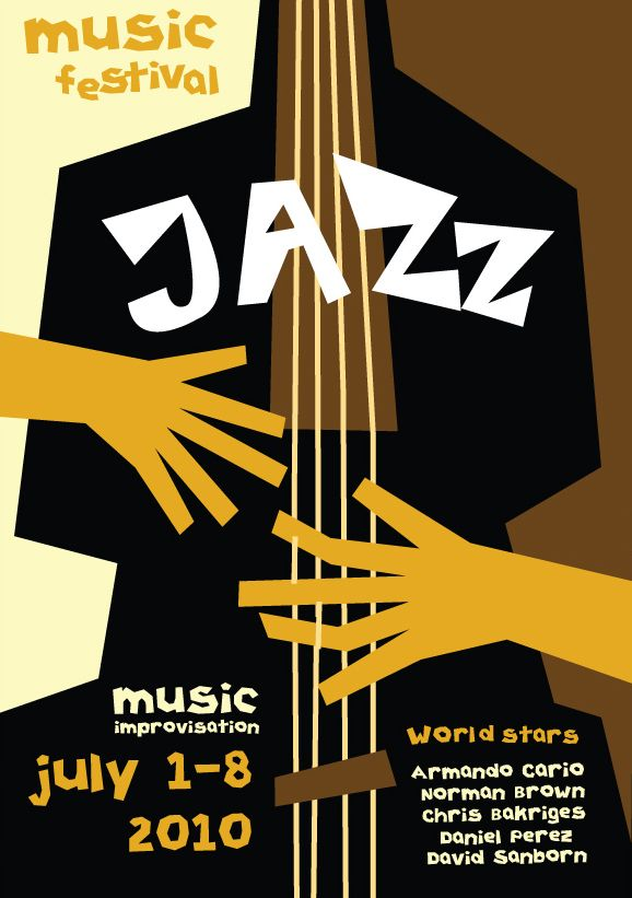 Music posters devoted to jazz by Olya Konstantinovskaya, via Behance