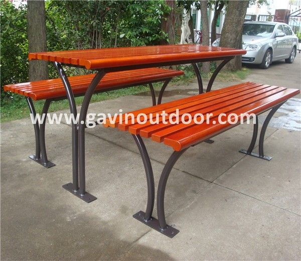 Akzo Nobel powder coated metal picnic table and benches outdoor wooden picnic table, View wooden picnic table, Gavin Product Details from Guangzhou Gavin Urban Elements Co., Ltd. on Alibaba.com