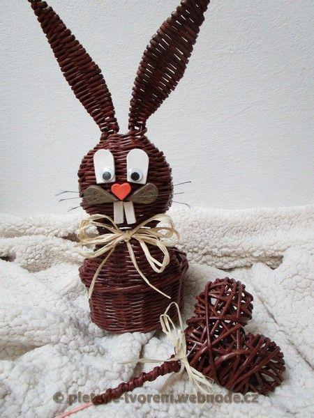 Velikonoční zajíci na přání :: Pletení z papíru
