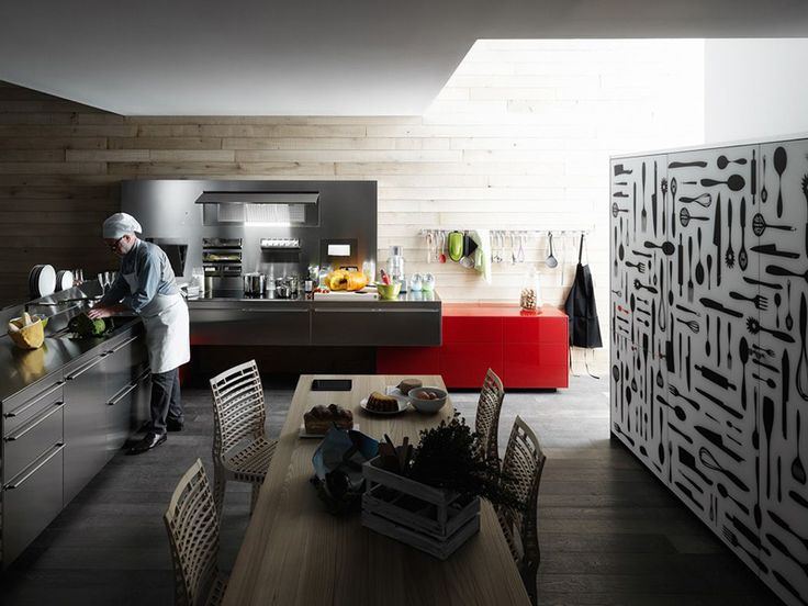Einbauküche Aus Edelstahl ARTEMATICA EDELSTAHL By VALCUCINE Design Gabriele  Centazzo