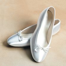 Satin Shoe Product Details - White Elegance - Makers of LDS Temple Clothes, Temple Dresses, Pioneer Costumes and more