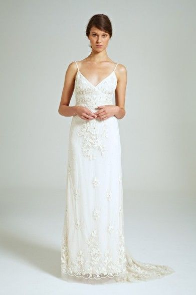 Collette Dinnigan Sequinned Beaded Tulle Shoestring Gown