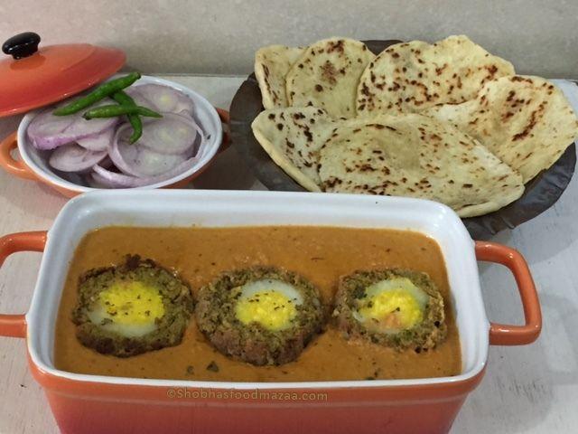 Shobha's Food Mazaa: SHAHI VEGETARIAN NARGISI KOFTA CURRY