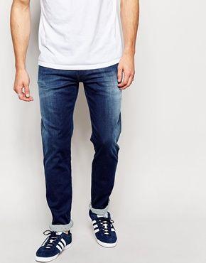 Replay – Anbass – Jeans aus Hyperflex-Ultrastretch in schmaler Passform und mittlerer Waschung 213€
