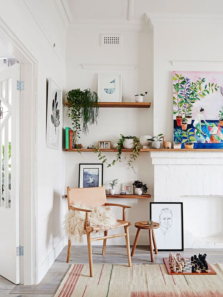 """Image featuring Fenwick chair with arms _ Barnaby Lane. Scandi-style renovation brings bungalow to life:""""The fireplaces were charred brick so we painted them all white to lighten them up,"""" Karling says. Fenwick **chair** from [Barnaby Lane](http://barnabylane.com.au/ target=""""_blank"""")."""