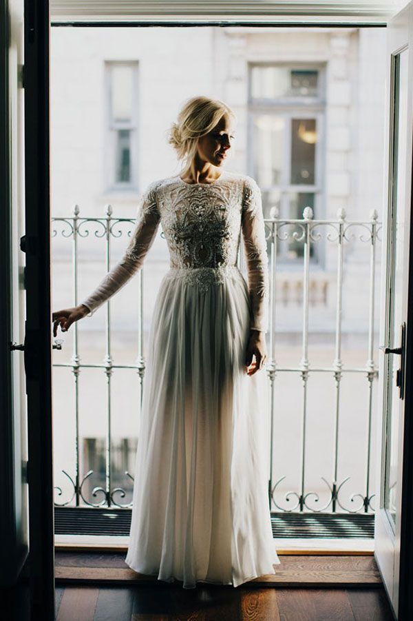 This Is What A Laid-Back & Elegant Wedding Looks Like #refinery29  http://www.refinery29.com/green-wedding-shoes/13#slide-5  Wedding dress: Lovely Bride. Dress tailor: Sew Elegant. Shoes: Steve Madden....