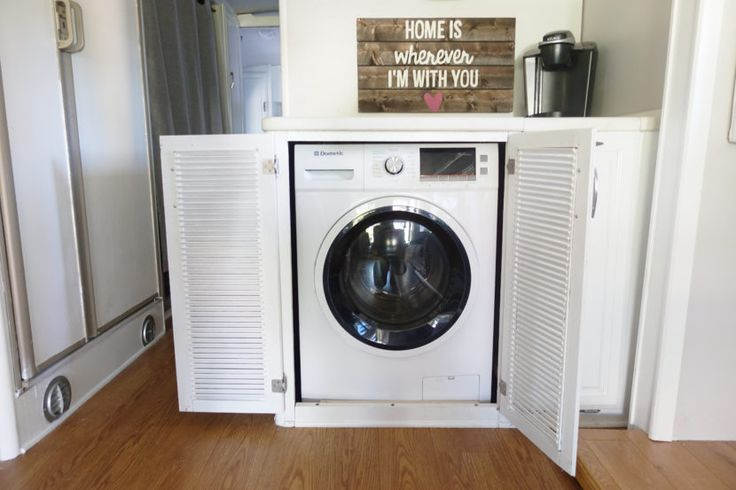 We installed a Dometic combo washer/dryer as part of our RV renovation, and we love it! The most amazing part is that it can both wash and dry our clothes all in one machine. It takes about 3 hours per load, which is perfect for us to put in a load and go about our day. #MobileLivingMadeEasy