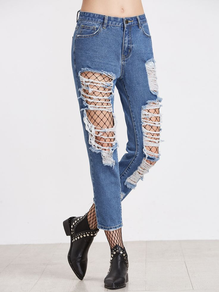 Shop Extreme Distressed Crop Jeans online. SheIn offers Extreme Distressed Crop Jeans & more to fit your fashionable needs.