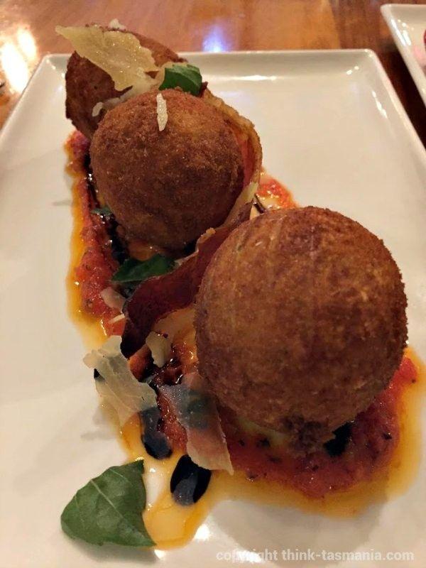 Manor Grill Restaurant - Arancini Balls: Rydges Hotels and Resorts (Hobart), 393 Argyle Street, North Hobart ~ #Tasmania #Hobart #RydgesMoments #Heritage #Accommodation #Foodie