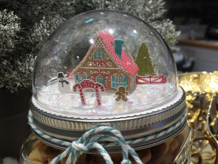Stampin Up-Papertrey Ink stamp Heart Domglas Gingerbread House Gift Petite Places 03