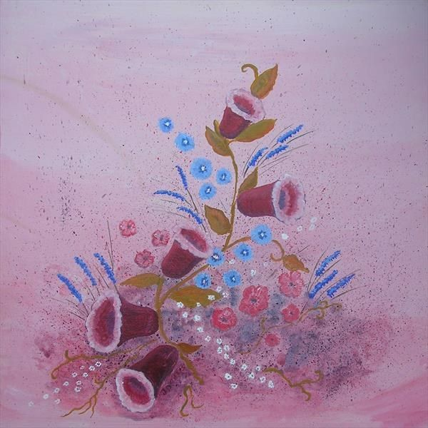 Pink Floral Abstract by Janet Davies | Artgallery.co.uk