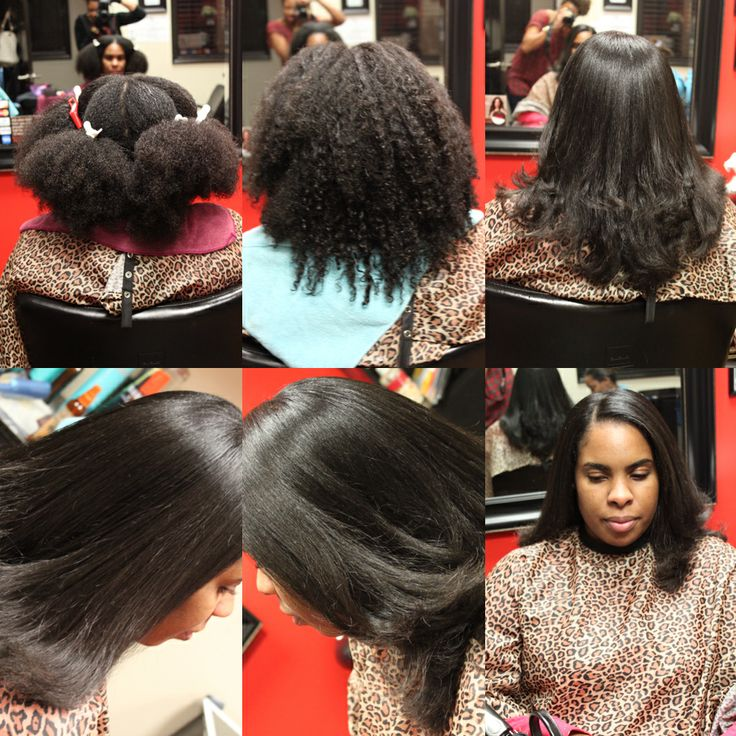 Black Natural Hair Blowout