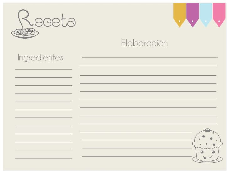 Blank Recipe Template Recipe Card Template Water Jpg Free Printable