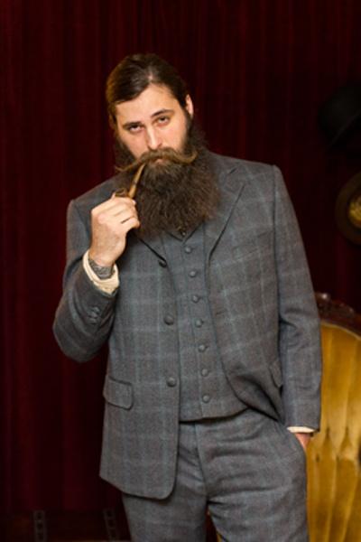 3 Piece Bespoke Suit Photo by Colin Gimenez .. pipe & beard...mmmm
