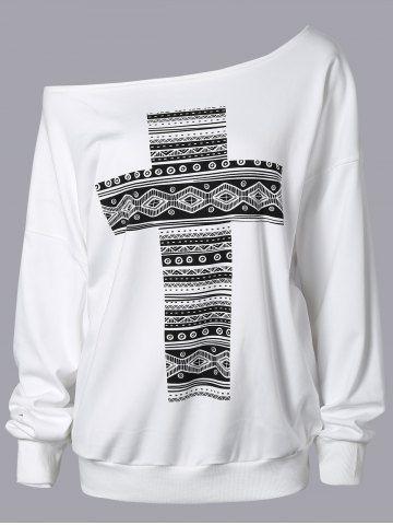 GET $50 NOW   Join RoseGal: Get YOUR $50 NOW!http://www.rosegal.com/sweatshirts-hoodies/cross-print-skew-neck-sweatshirt-846340.html?seid=7141741rg846340