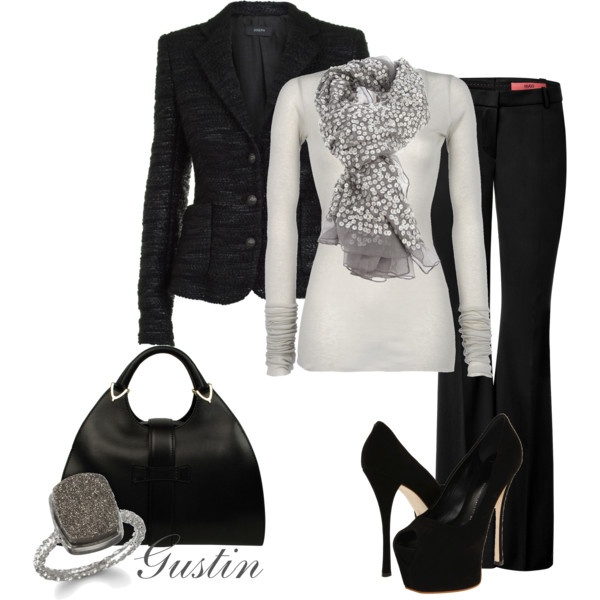 Love It! But I Could Never Wear Those Shoes! :/: Professional Outfits, Black Outfits, Fashion Style, Fashion Design, Black White, Black Shoes, Black Suits, Work Outfits, Business Outfits