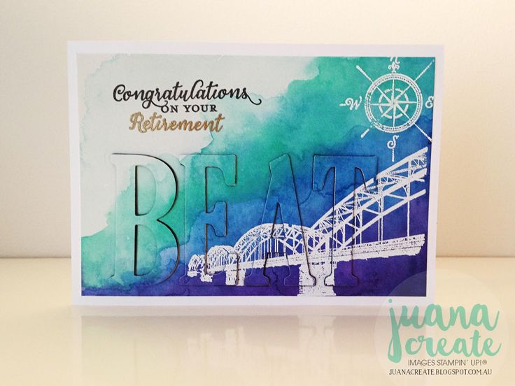Juana Ambida   Congratulations on your Retirement   Personalised card inspired by Live Love Cards challenge. #WhereeveryouGo, #Stampinup, #handmadecard, #Juancreate