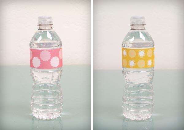 DIY Baby Shower: Water Bottle Labels {Free Download}