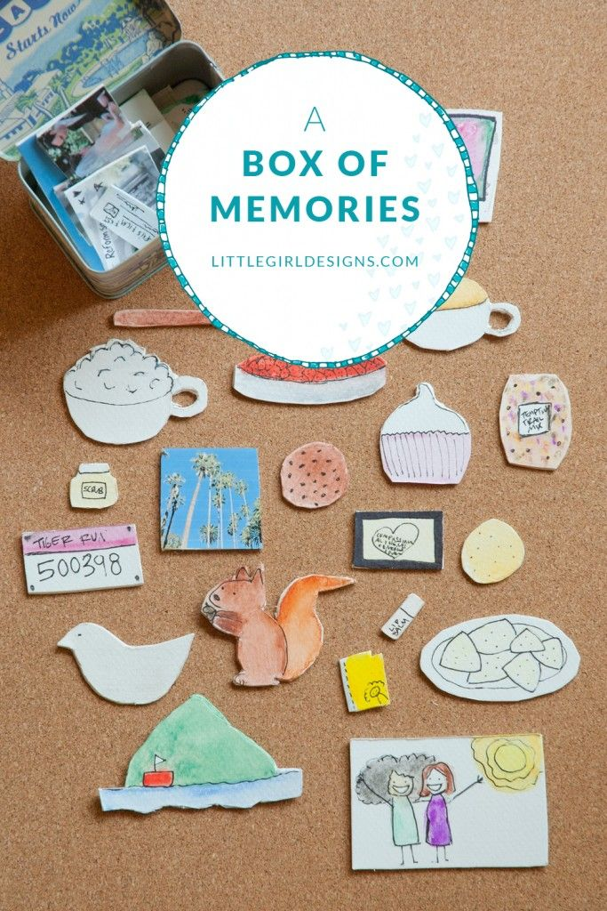 A Box of Memories - a creative and meaningful gift. The perfect gift for graduation, anniversaries, weddings, birthdays, and when your friend moves away @littlegirldesigns.com