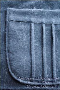 Обработка накладного кармана - 1