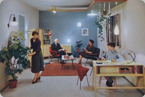 Interieur jaren 50 interieur retro pinterest for Jaren 60 interieur