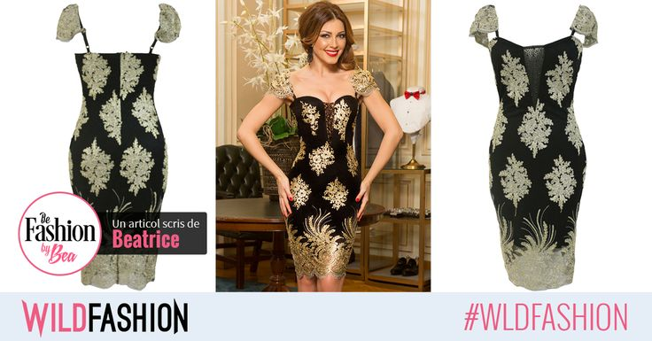 Negru si auriu este o combinatie perfecta pentru o rochie in care sa te simti ca o diva! Like & Share unei prietene careia i se potriveste!
