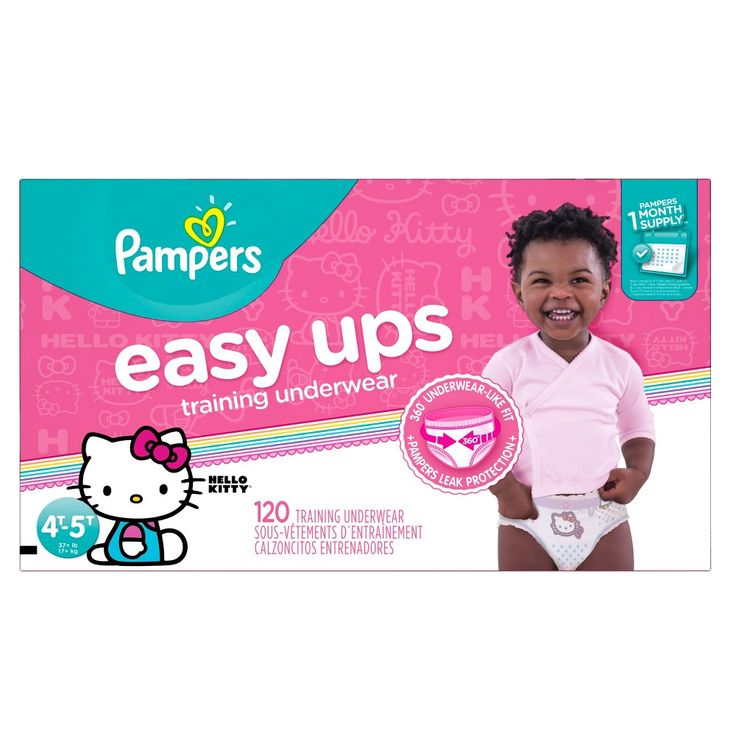 Pampers Easy Ups Girls Training Pants One-Month Supply (Assorted Sizes)