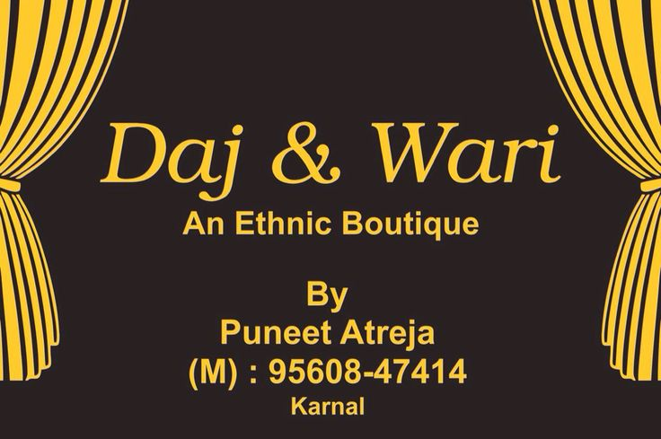 Daj and wari  Ethnic boutique Based on traditional name