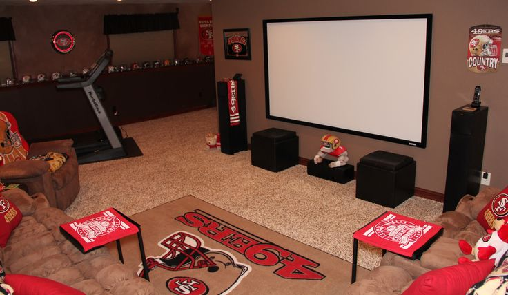 Hubby's 49er Mancave I did for him.