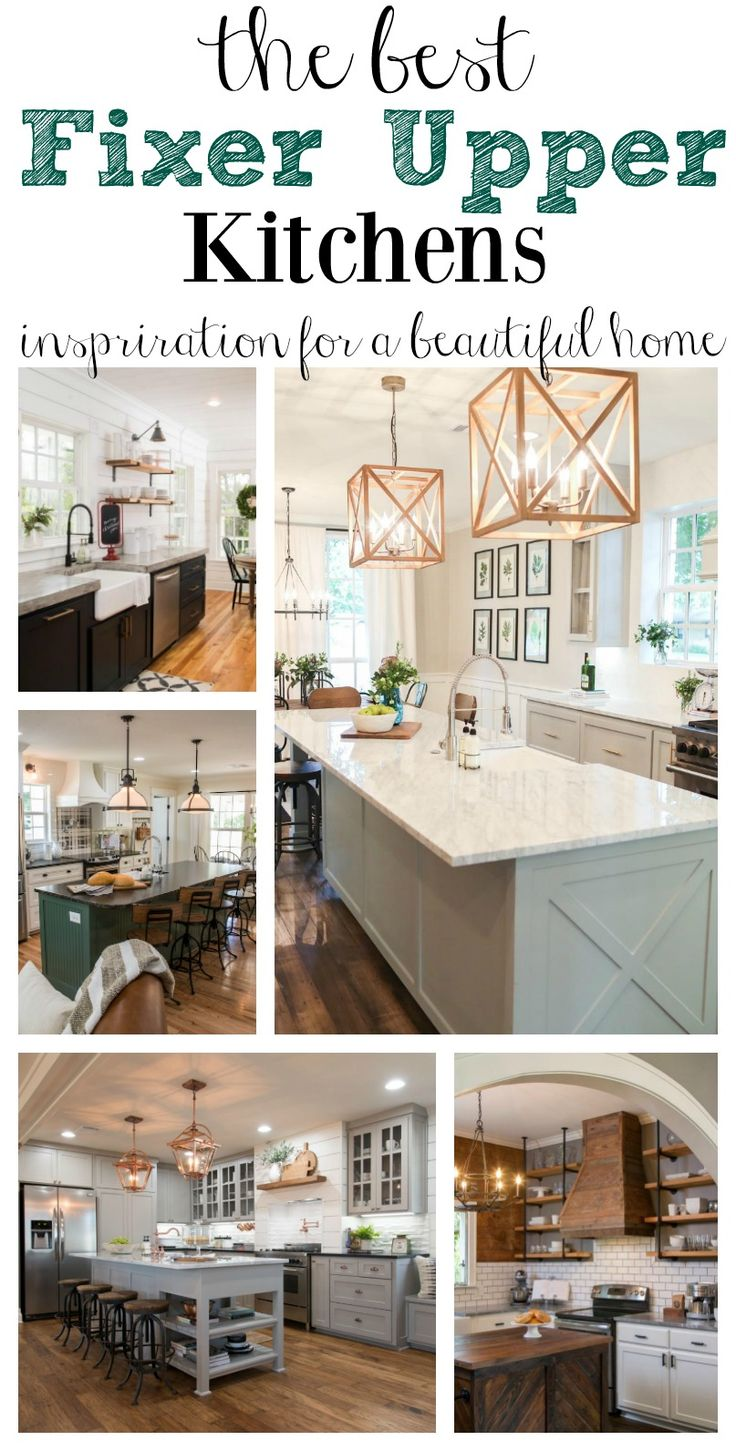the best fixer upper kitchens wohnen einrichten pinterest k che traumh user und wohnen. Black Bedroom Furniture Sets. Home Design Ideas
