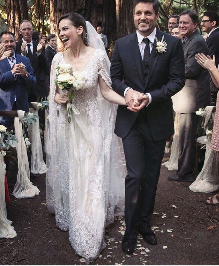 Hilary Swank Vestido Elie Saab Braut Hochzeit Brautkleid